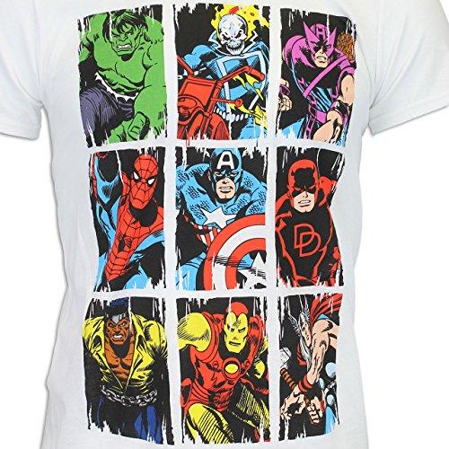 Marvel Avengers Herren Marvel Comic T-shirt