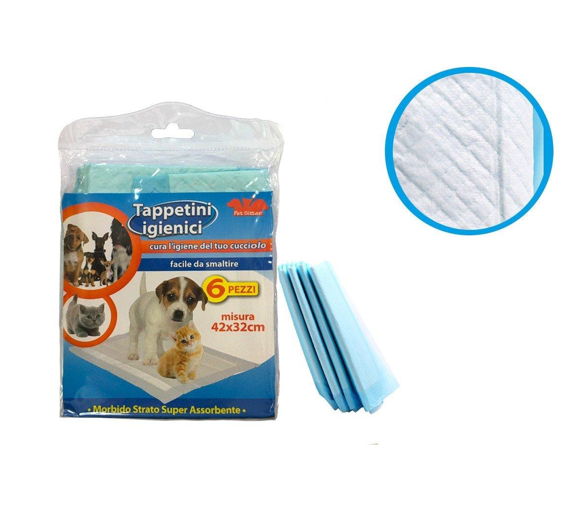 627336 Empapadores higi/énicos para cachorros s/úper absorbente de 6 PZ PET SITTER