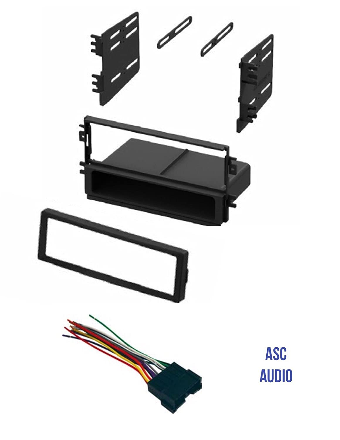 61KYi7ITzqL._SL1500_ amazon com asc audio car stereo radio dash kit and wire harness  at bayanpartner.co