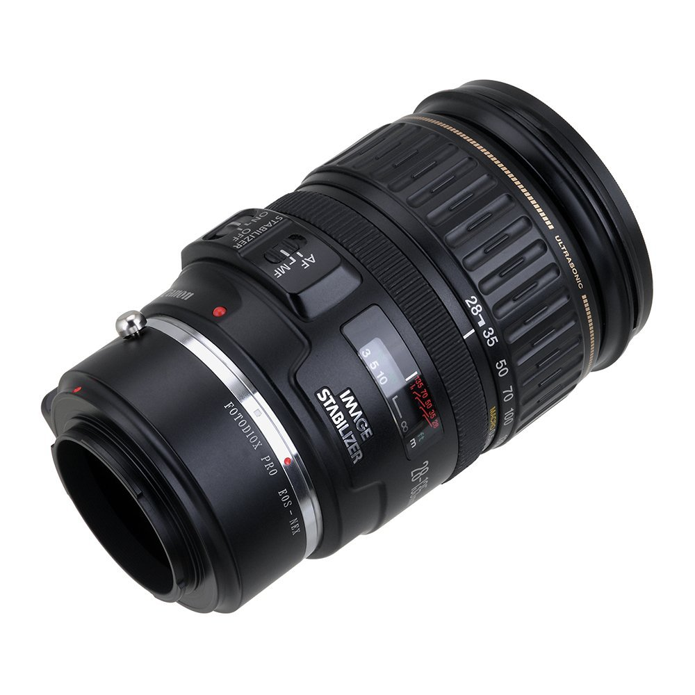 Anillo Adaptador para Objetivo Canon EOS a Sony Alpha NEX Fotodiox 10-LA-EOS-NEX-P