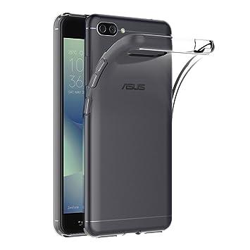 AICEK Funda ASUS Zenfone 4 MAX ZC554KL, Transparente Silicona Fundas para Zenfone 4 MAX ZC554KL Carcasa Silicona Funda Case (5.5