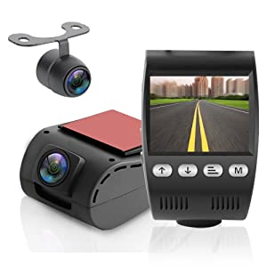 Pyle Dash Cam Car Recorder DVR - 2 Inch Monitor Blackbox Rear Camera View Full Color HD 1080p Video Security Loop Camcorder - PiP Night Vision Audio Record Micro SD & Built-in Microphone (PLDVRCAM48)