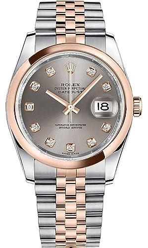Rolex Datejust 36 - Reloj de Pulsera para Mujer (Bisel de Oro Rosa)