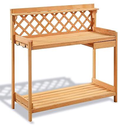 Tremendous Amazon Com Lucky T Garden Wood Work Potting Bench Machost Co Dining Chair Design Ideas Machostcouk