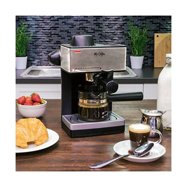 Mr Coffee 4 Cup Steam Espresso System With Milk Frother Ecm160 Caffeinated Cup