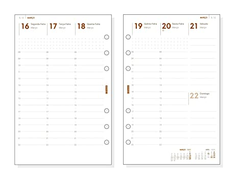 Finocam - Agenda Organizador 2020 semana vista vertical Open Club Burdeos español, 500 - 117x181 mm