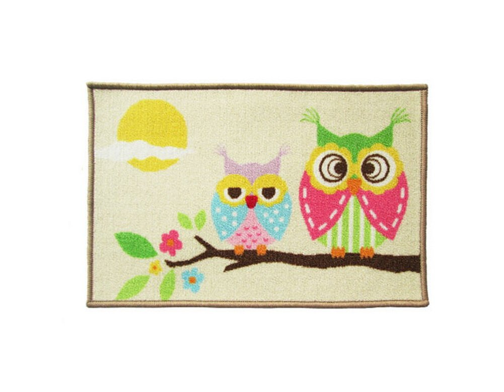 Good Morning Owls Lovely Cartoon Rug for Kids, Owl Rug PANDA SUPERSTORE PS-HOM404457011-EMILY02370
