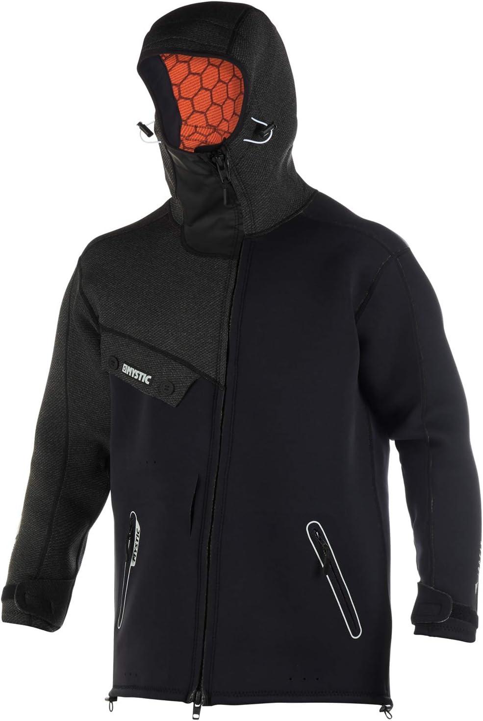 Mystic Watersports Surf Kitesurf & Windsurfing Herren Len10 Ocean Neopren Wetsuit Coat Jacket Schwarz Weiß