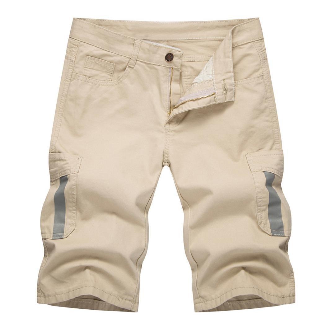 2018 New Hot! Summer Male Pants,PASATO Casual Denim Pocket Pants Overalls(Khaki, XXL)