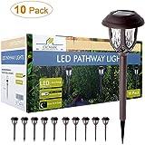 Solar Lights Outdoor Decorative, Solar Pathway Lights Outdoor, Solar Powered Garden Yard Lights for Walkway Sidewalk…