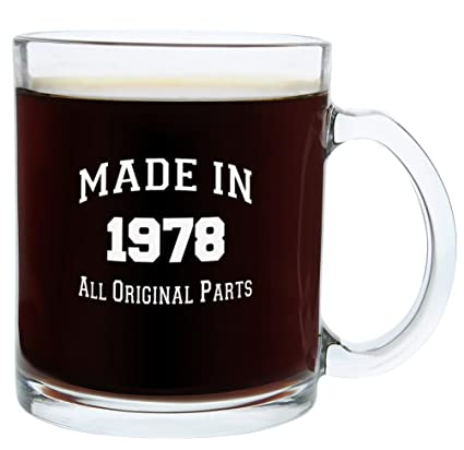 40th Birthday Gifts For Women Or Men Made 1978 Gift Ideas Glass Coffee