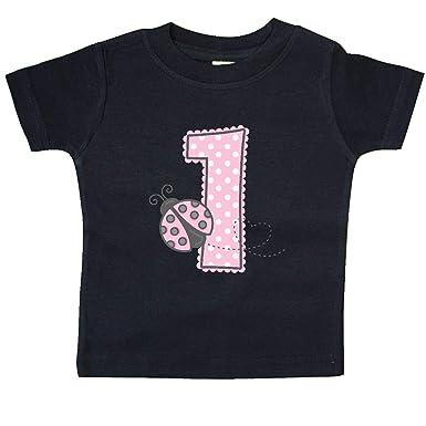 3762a0a9 Amazon.com: inktastic - Pink Ladybug 1st Birthday Baby T-Shirt 1d278 ...