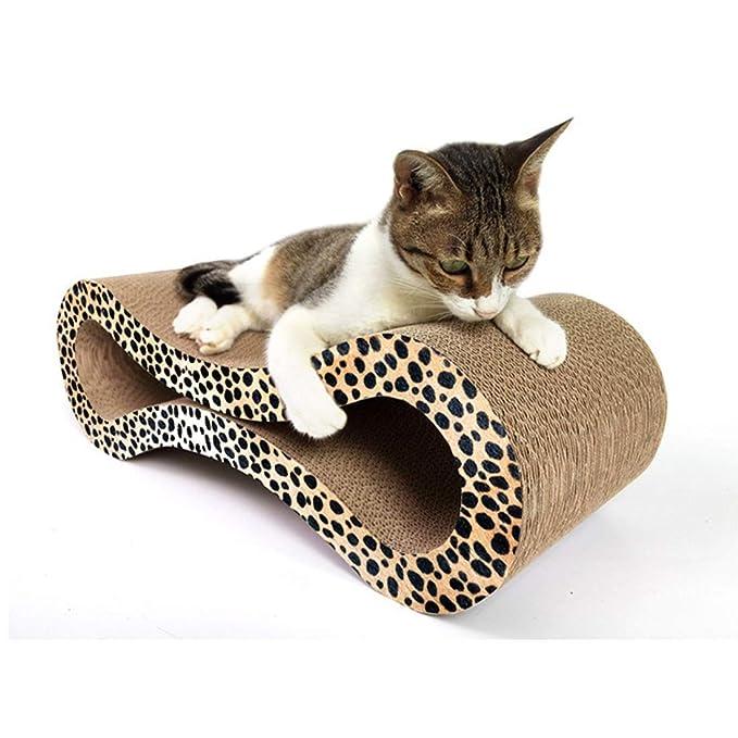 HEI SHOP Tabla de rascar de Papel Corrugado para Gatos, con 8 Formas de arenero para Gatos, Accesorios para Mascotas (Color: Leopardo 8 Figura, ...