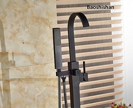 Freestanding Bathtub Faucet Tub Filler Oil Rubbed Bronze Floor ...