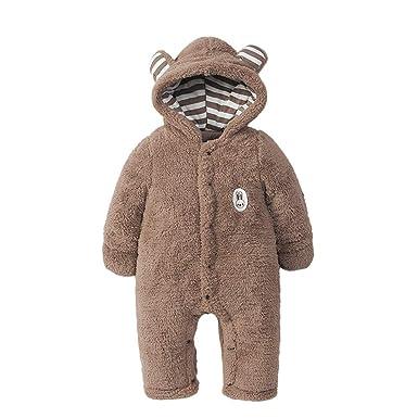 faeb9e872 Amazon.com  AMSKY Cute Newborn Baby Boys Girls Long Sleeves Keep ...