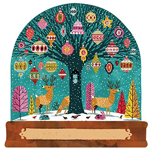 Hester & Cook Paper Placemat, Pad of 12 (Die-Cut Snowglobe)