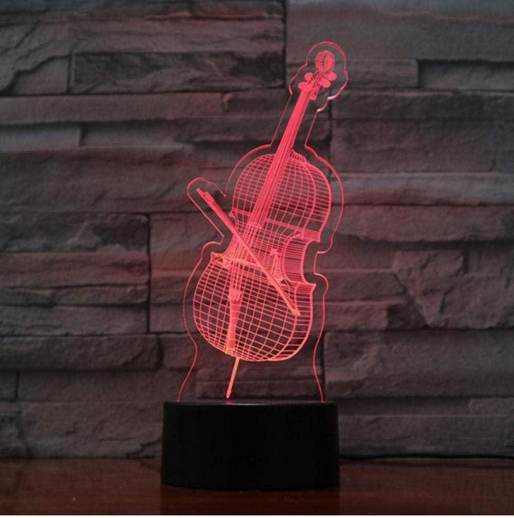 Giorno Del Ringraziamento Chitarra Basso Usb 3D Led Luce Notturna Ragazzi Bambini Bambini Regali Per Bambini Lampada Da Tavolo Atmosfera Comodino Neon