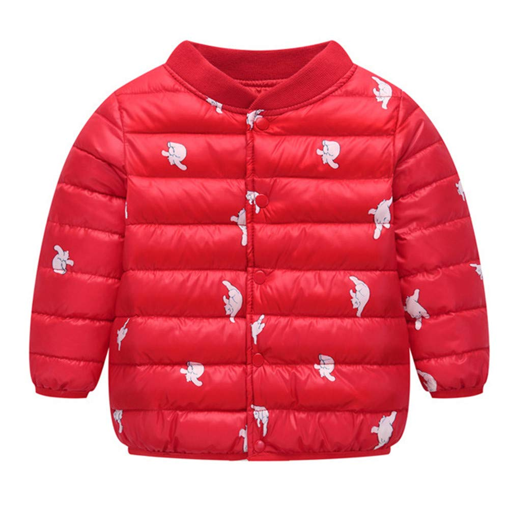 HOMEBABY Kids Baby Girl Boy Cotton Down Padded Coat Lightweight Toddlers Cartoon Cloak Jacket Autumn Winter Thick Cardigan Warm Clothes Sweatshirt Casual Long Sleeve Tops