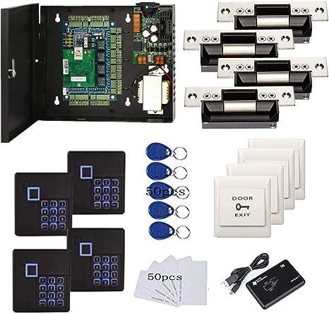 4 Puertas TCP/IP RFID Sistemas de Control de Acceso Completo con derrape eléctrico estándar de