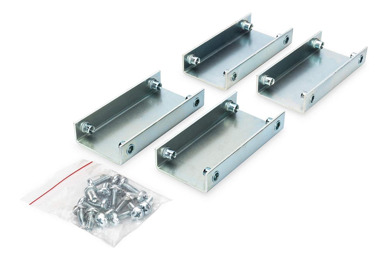 Montage-Material F/ür Unique /& Dynamic Basic DIGITUS Anreihverbinder Set f/ür Netzwerk- /& Serverschr/änke 4 St/ück