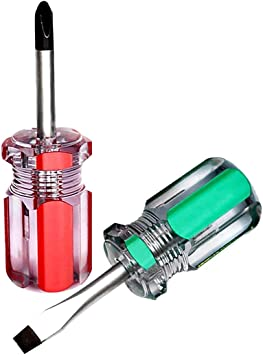 2 pieces XINJUE magnetic short-handle screwdriver cross//slotted high torque screwdriver set small space