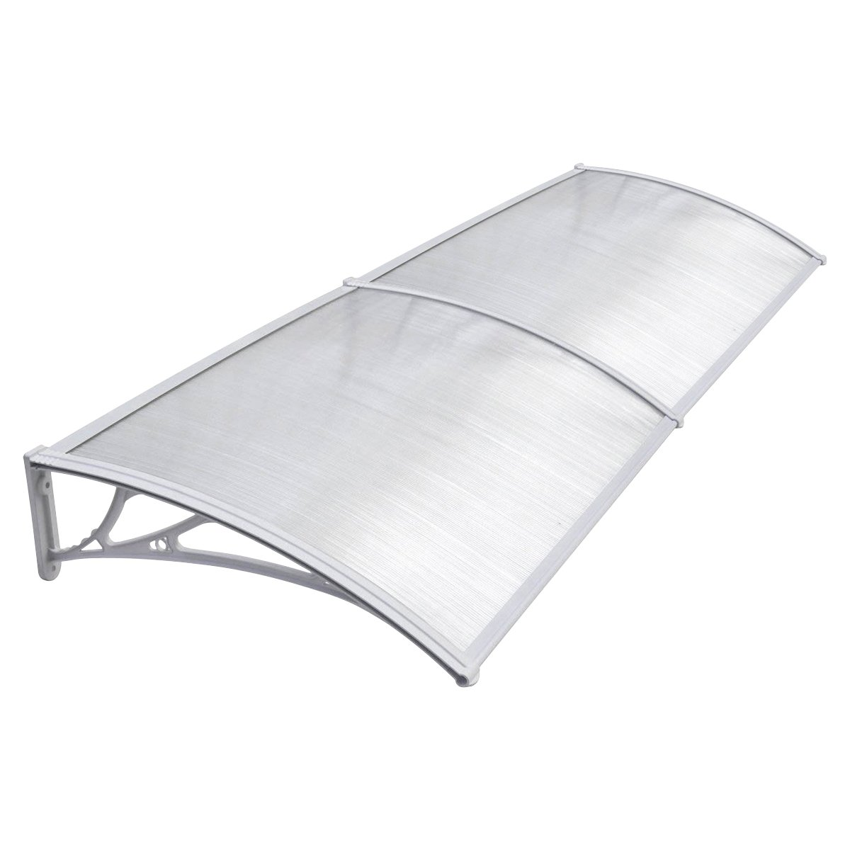 Door Canopy Awning Shelter Front Back Porch Out Door Shade 80 X 120CM (Double White) DennyShop