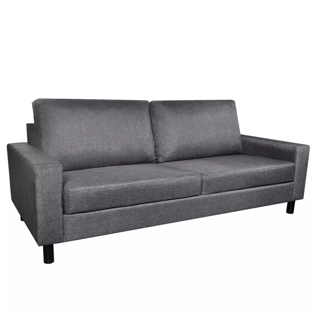 Sofa 3-Seater Fabric Dark Gray Home Office Furniture 79'' x 34'' x 32'' (W x D x H) by Drewcaroline (Image #2)