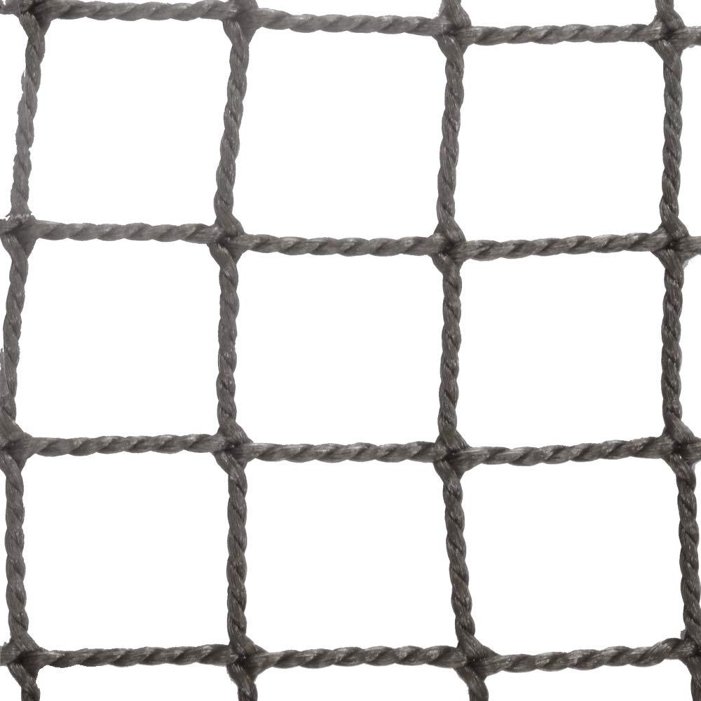 ネット 網 NET15 防炎 ■シルバー ▼幅570cm ▽丈500cm 25mm目 JQ 防球ネット 防鳥ネット 防犯用ネット 階段ネット 落下防止ネット 安全ネット ゴルフネット サイズオーダー B07H3JCQX5 ▽丈500cm ▼幅570cm