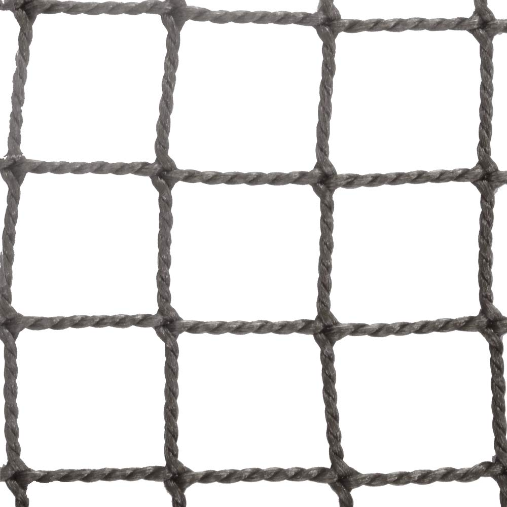 ネット 網 NET15 ■シルバー ▼幅440cm ▽丈300cm 25mm目 JQ 防球ネット 防鳥ネット 防犯用ネット 階段ネット 落下防止ネット 安全ネット ゴルフネット サイズオーダー B07H3LTLXY ▽丈300cm ▼幅440cm