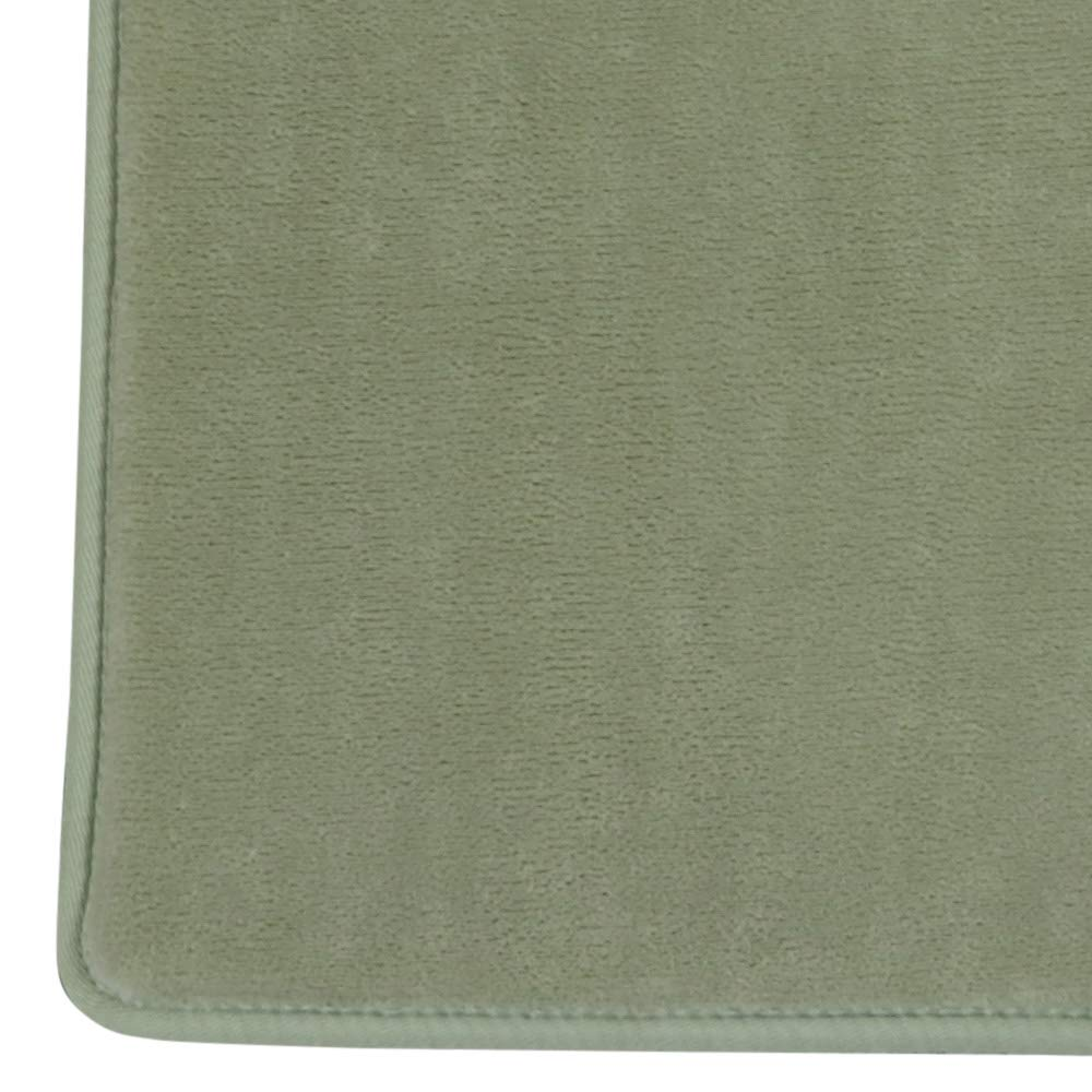 低反発 + 高反発 ウレタン ハイブリッド 2層 フランネル ラグ (セイジグリーン, 約 190×240cm (Lサイズ 3畳 )) B07KXNQLHM セイジグリーン 約 190×240cm ( Lサイズ 3畳 )
