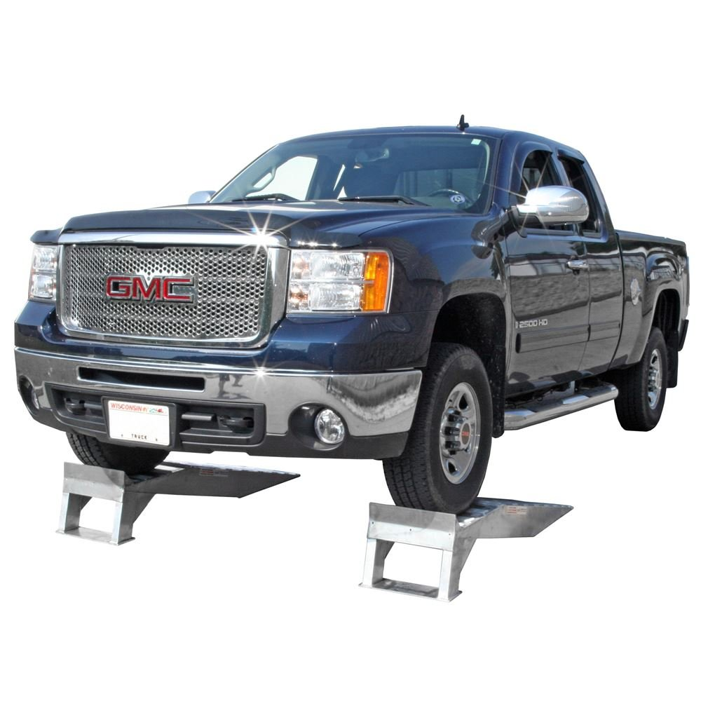 Pair of Aluminum Pickup Truck Wheel Riser Service Ramps by Rage Powersports (Image #4)