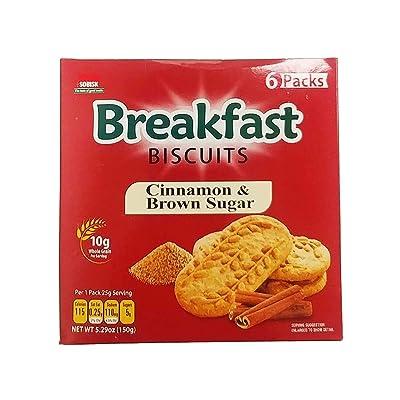 (Pack of 12, 72 Ct) Sobisk Breakfast Biscuits Cinnamon Brown Sugar, 5.3oz : Grocery & Gourmet Food