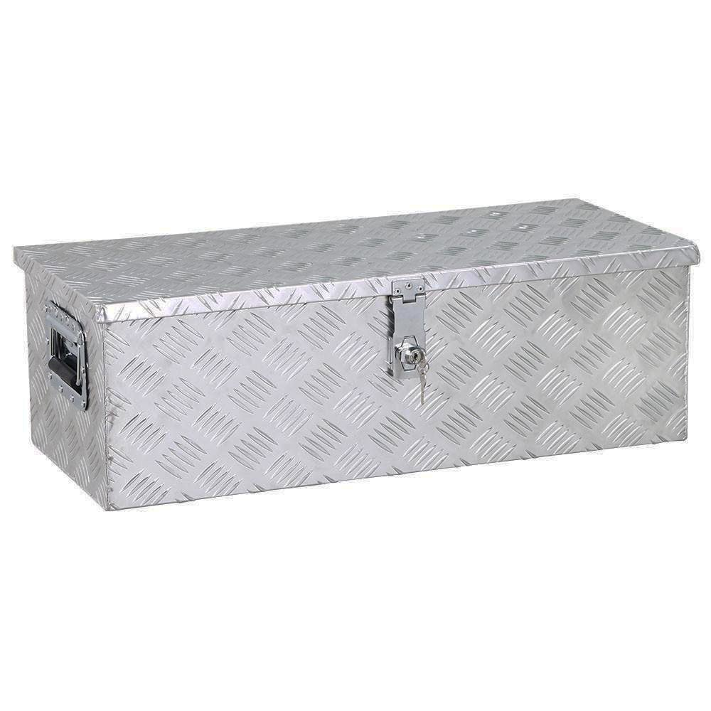 go2buy Aluminum Tool Box Storage for Truck Pickup Bed Trailer w/Lock, 30 x 13 x 10'' (LxWxH)