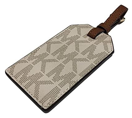 734b10d07109 Image Unavailable. Image not available for. Color  Michael Kors Jet Set  Travel Luggage Tag Signature MK Vanilla