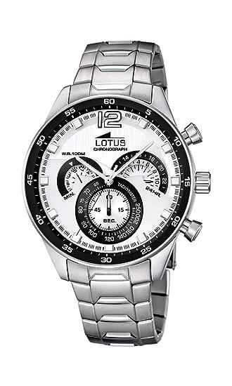 Lotus 10120/1 - Reloj de Pulsera Hombre, Acero Inoxidable, Color Plata