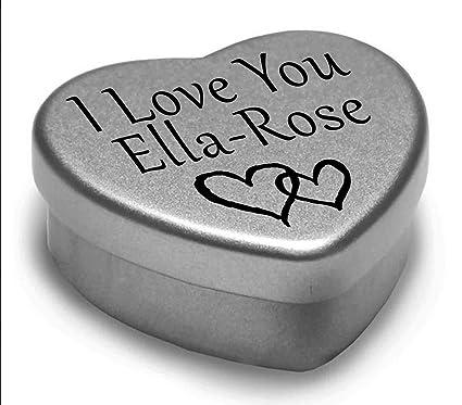 2846593d61de8d I Love You Ella-Rose Mini Heart Tin Gift For I Heart Ella-Rose With  Chocolates.