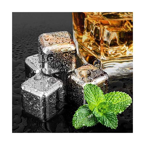 DINOKA Cocktail Set 18 Pezzi Professionale 304 Acciaio Inossidabile 750ml ,4 Pietre di Whisky,Squisita Cornice ,Kit… 4 spesavip
