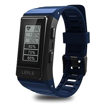 QTEC Reloj Inteligente Azul Reloj Elegante Hombres GPS Deportes Pulsera Monitor de Ritmo cardíaco Rastreador de Ejercicios: Amazon.es: Deportes y aire libre