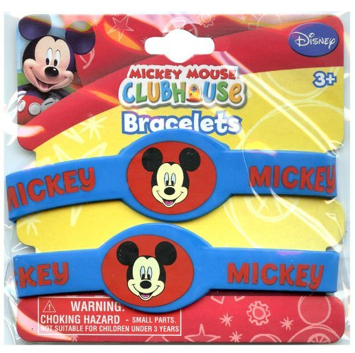 UPD INC Disney Mickey and Minnie Rubber Bracelets (1) by Official Costumes