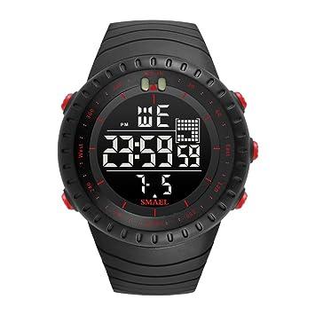 MingXiao Relojes Deportivos para Hombres Relojes Militares LED Relojes con luz de Fondo Electrónica Deportes a