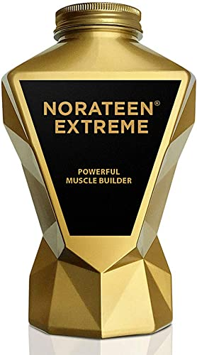 LA MUSCLE Norateen Extreme – Daily Muscle Building Mass Weight Gainer Bulk Supplement for Testosterone Booster Muscle Growth Strength, Endurance Stamina Test Boost Vegan Veggie Pills