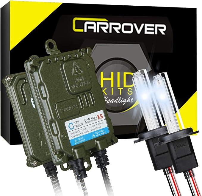 CAR ROVER H7 Canbus HID Xenon Kit Faro Bulbo 10000K, 12V 55W: Amazon.es: Coche y moto