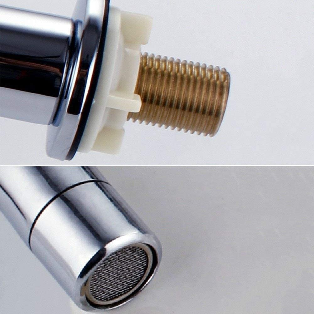 IBalody Ingenier/ía Grifo monomando accionado por el pie Lavabo de cobre completo Lavabo del lavabo Grifo del pie Grifo del pie V/álvula de interruptor de pedal fr/ío simple V/álvula de laboratorio Hospit