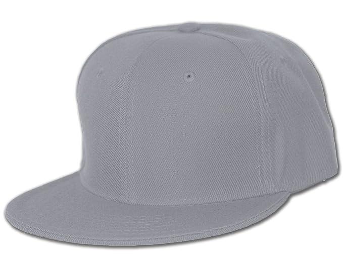 eb359b60057 Blank Flat Bill Baseball Hat at Amazon Men s Clothing store