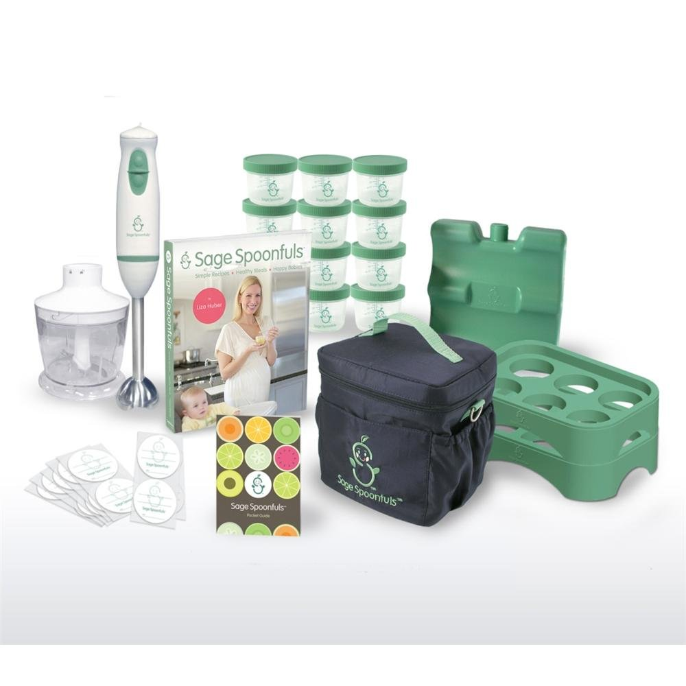Baby Food Making & Storage 21 Pc Kit - With Blender, Jars, Tray, On The Go Bag And More! by Sage Spoonfuls (Image #1)