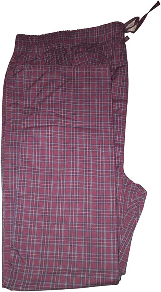 Big and Tall Lightweight Cotton Blended Lounging Sleep Pants to 8X in Assorted Plaids
