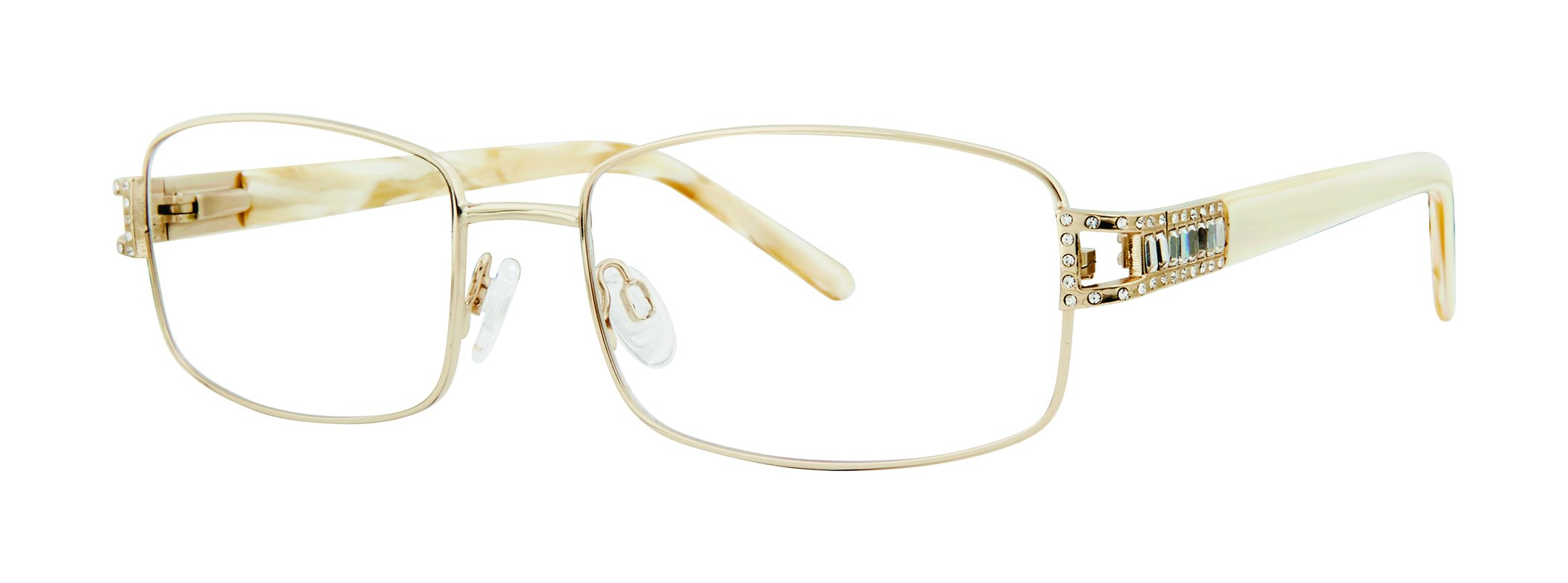 Significant Women's Eyeglasses - GB+ Collection Stainless Steel Frames - Gold 58-18-145 by GENEVIEVE BOUTIQUE