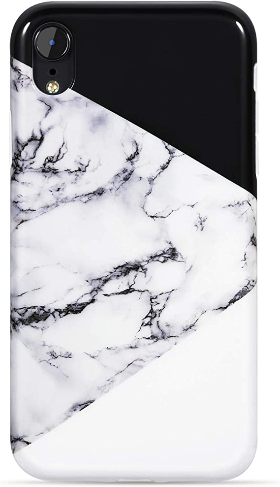 Amazon Com Vivibin Iphone Xr Case Cute Black And White Marble For Men Women Girls Clear Bumper Slim Fit Glossy Tpu Soft Silicone Rubber Best Protective Cover Thin Phone Case For New Iphone Xr