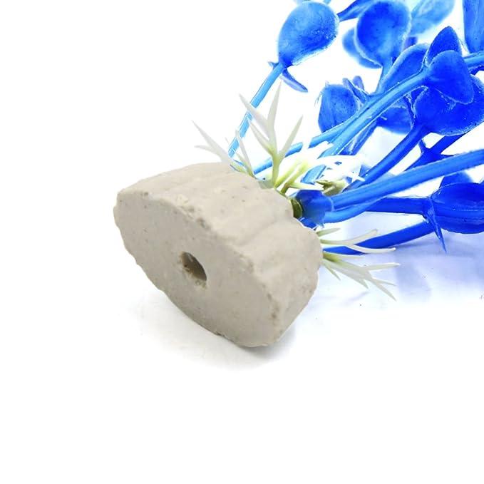 sourcing map Sourcingmap® 10Pcs Azul De Plástico Peces De Acuario Tanque Hojas De Algas Marinas Plantas Ornamentales W Base: Amazon.es: Productos para ...