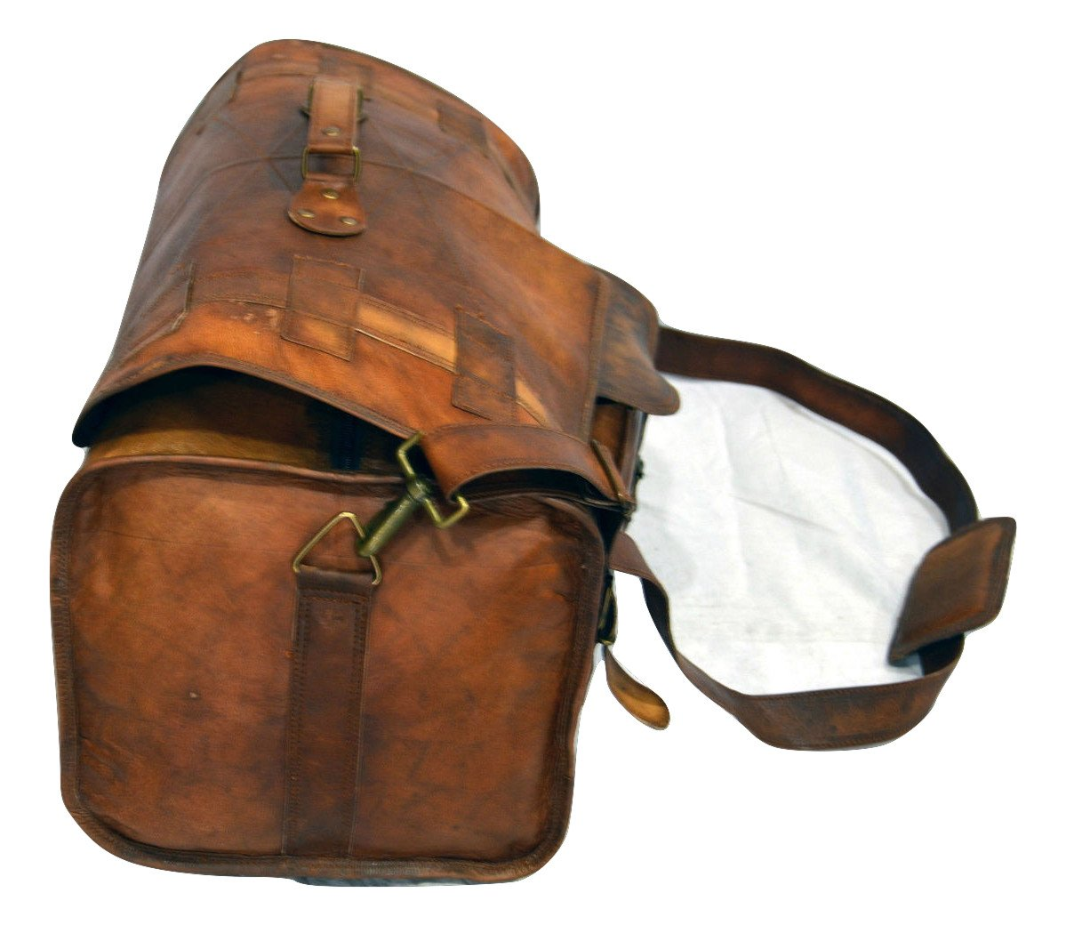 Urban Dezire Leather Duffel Travel Gym Overnight Weekend Leather Bag Sports Cabin by Urban Dezire (Image #2)